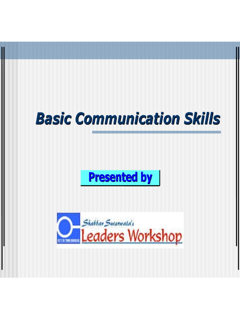interpersonal skills pdf free download