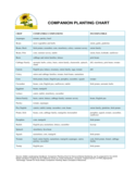 Companion Planting Chart for Crop Free Download
