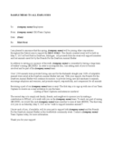 Sample Memo to All Company Employees Free Download