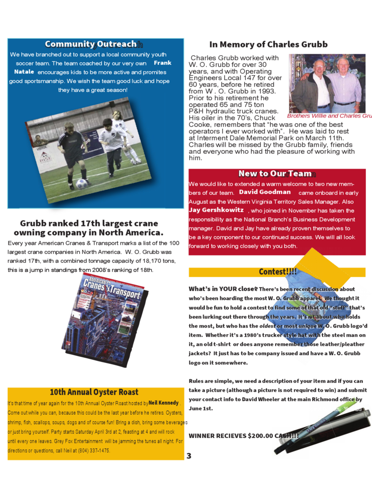 Writing for company newsletter