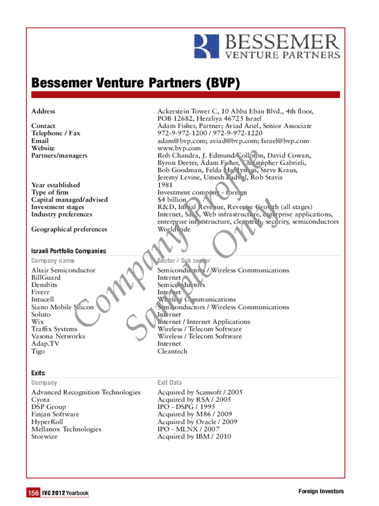 Basic Company Profile Sample Free Download  Company Profile Format Word Document