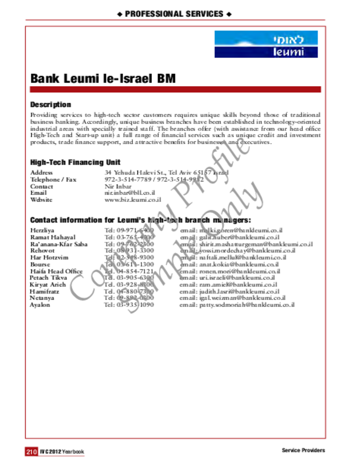 Basic Company Profile Sample Free Download
