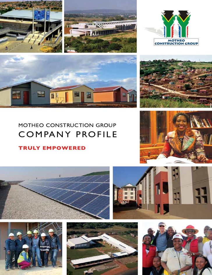 Construction Company Profile Sample Free Download