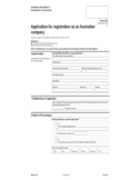 Application for Registration As An Australian Company Free Download