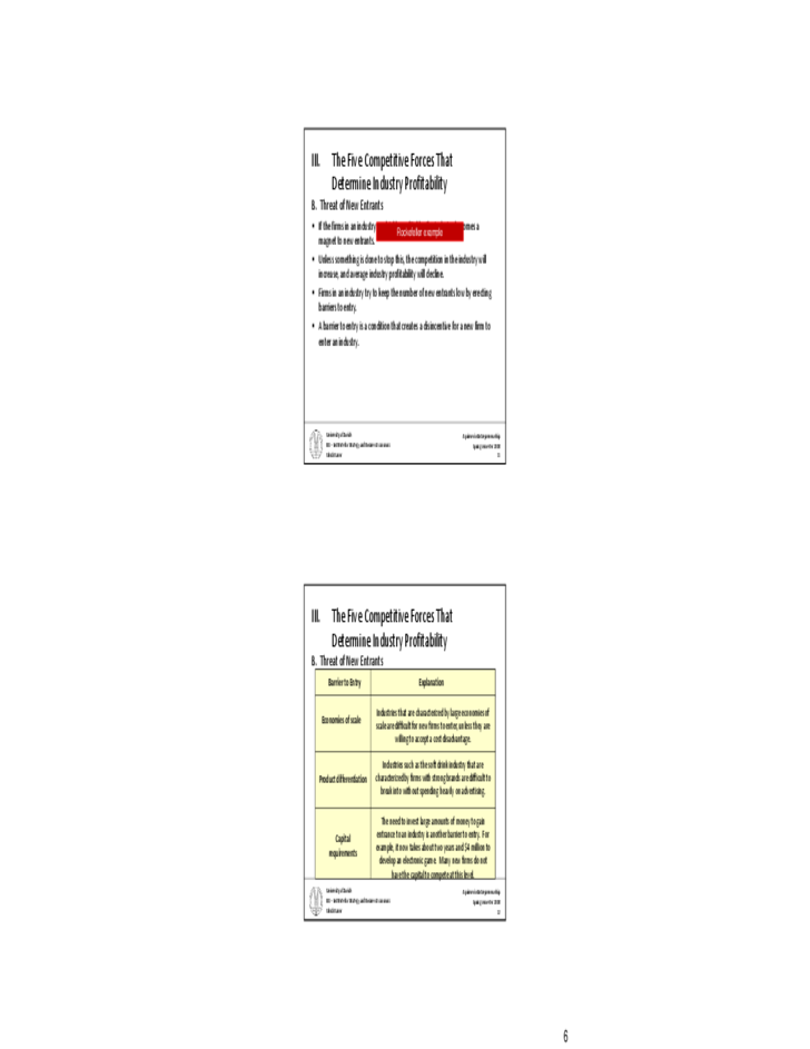 Industry and Competitor Analysis Form