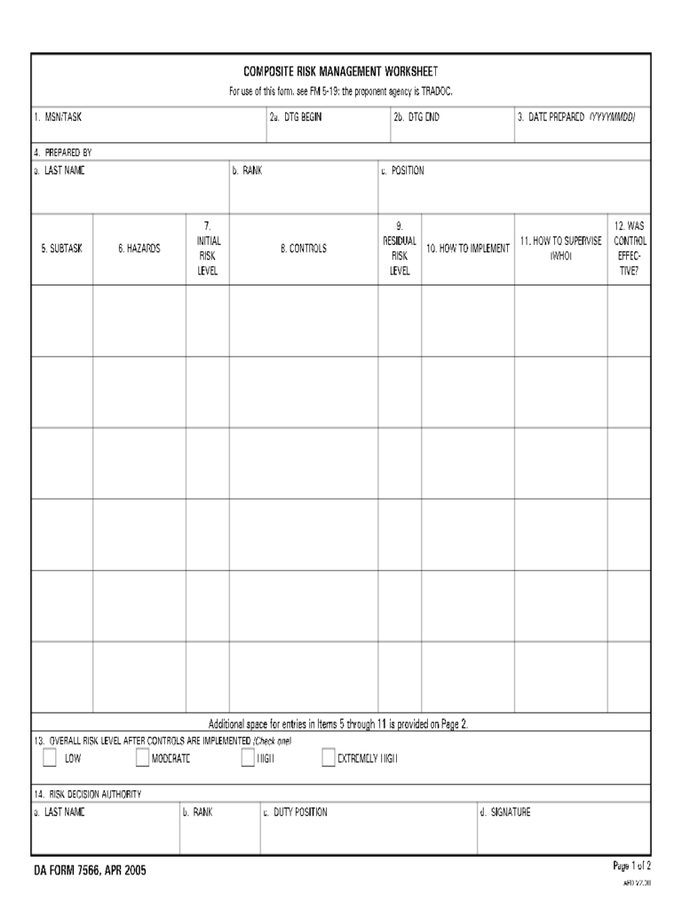 Risk Assessment Form 21 Free Templates in PDF Word Excel Download – Risk Management Template Free