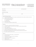 Conference Planning Task List - Minnesota Free Download