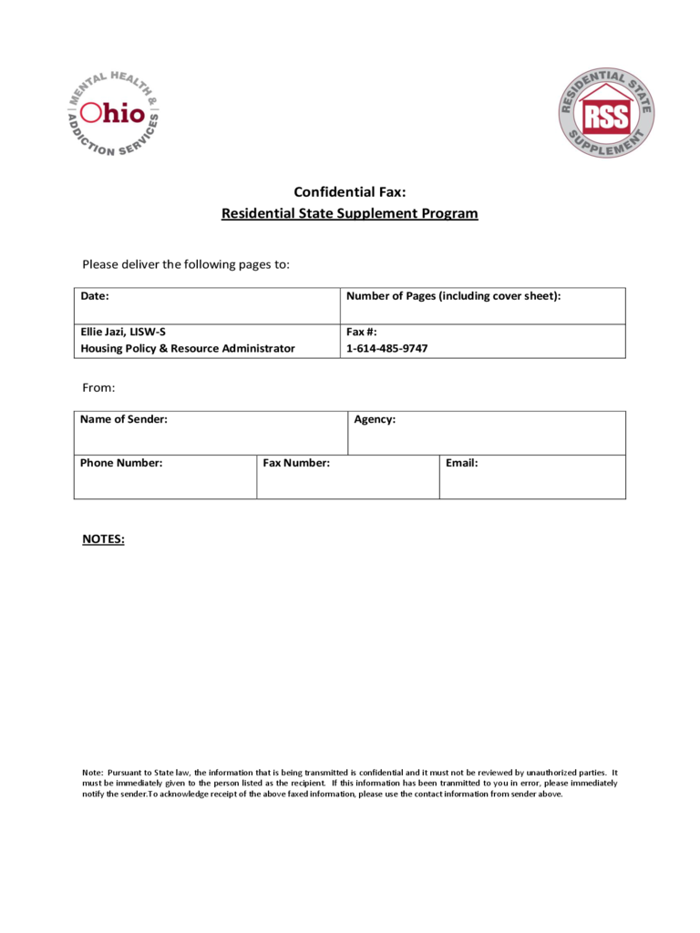 fax cover sheet templates in pdf word excel confidential fax cover sheet ohio