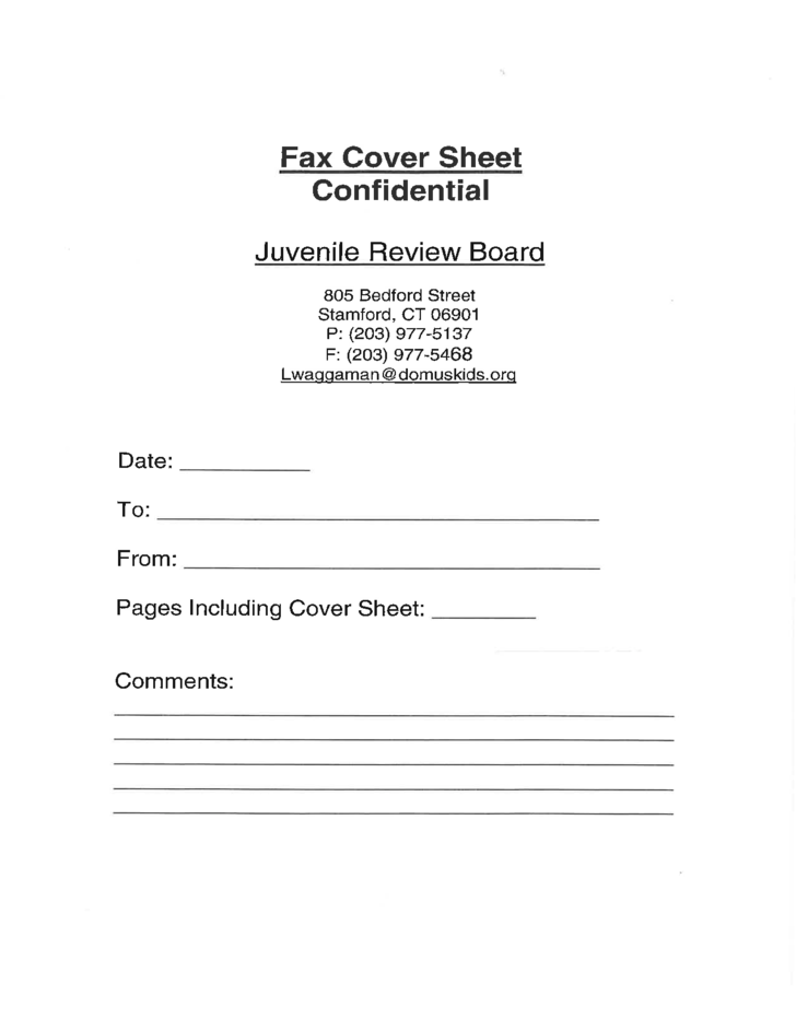 Fax Cover Sheet Confidential Free Download