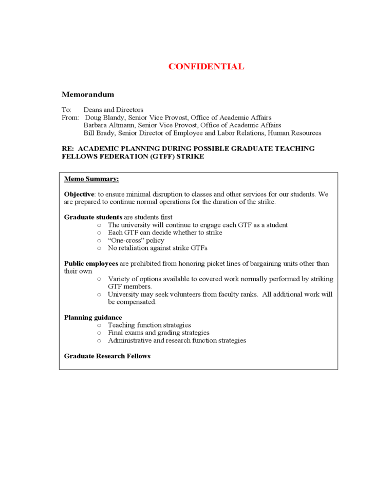 confidential memorandum template free download