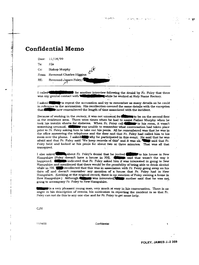 Simple Confidential Memo Template