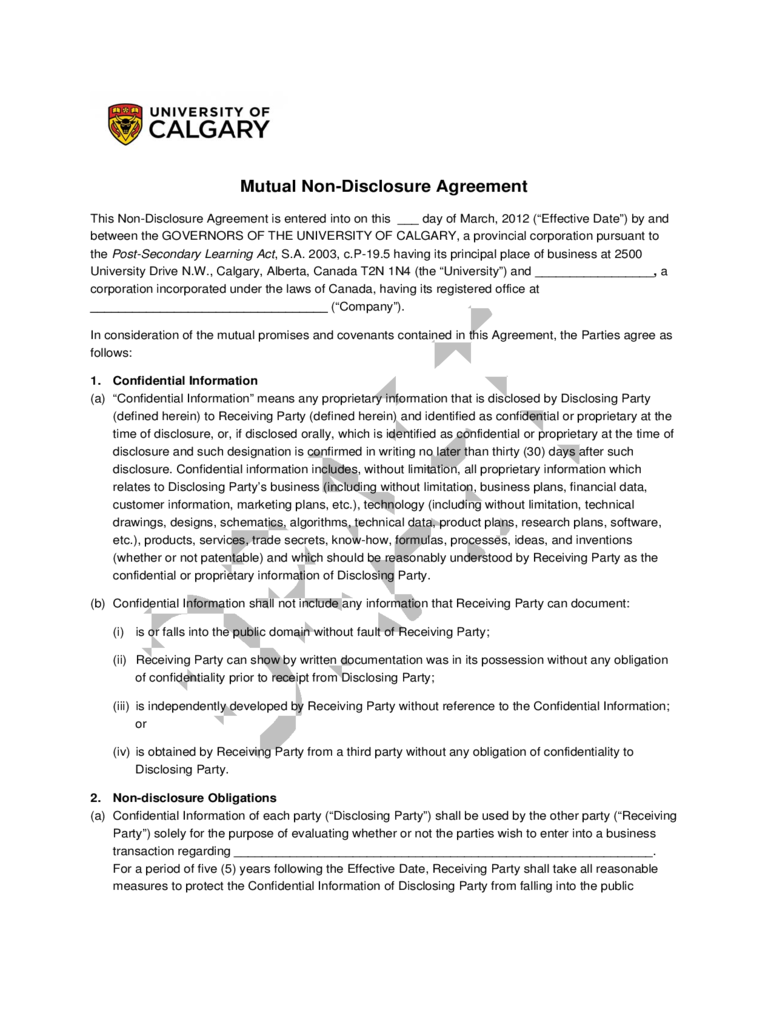 Confidentiality agreement template 11 free templates in for Cda agreement template