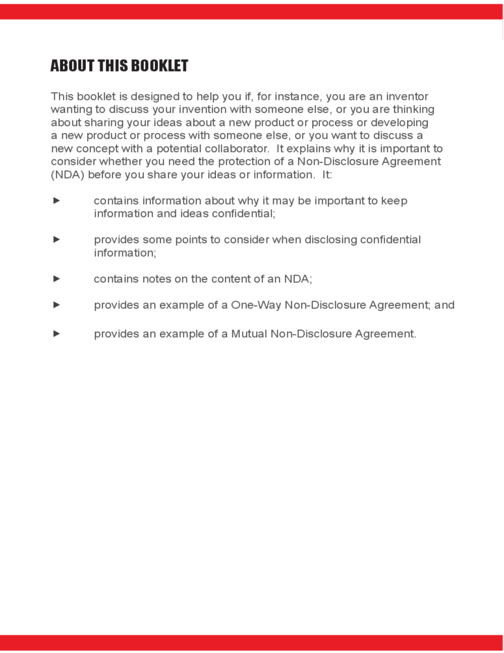 Non-Disclosure Agreement Free