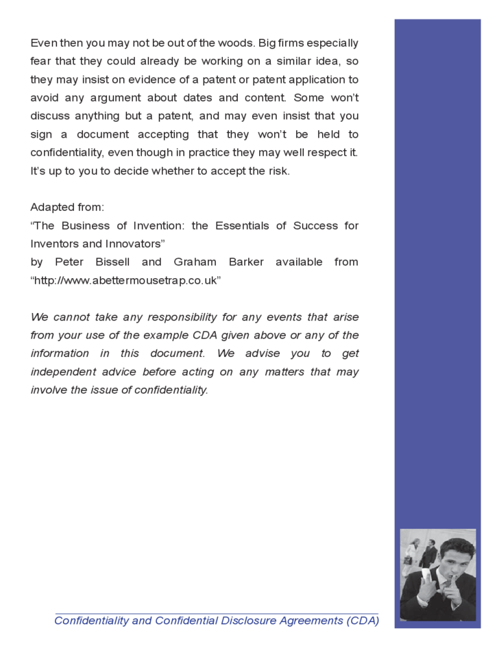 Confidentiality And Confidential Disclosure Agreement Free Download
