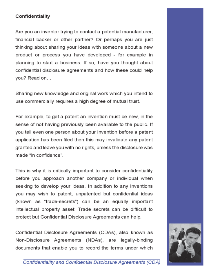 Confidentiality and confidential disclosure agreement free for Cda agreement template