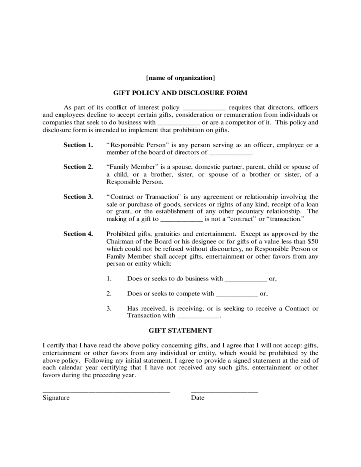 Conflict of Interest Policy Sample Free Download