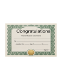 Blank Congratulations Certificate Template Free Download