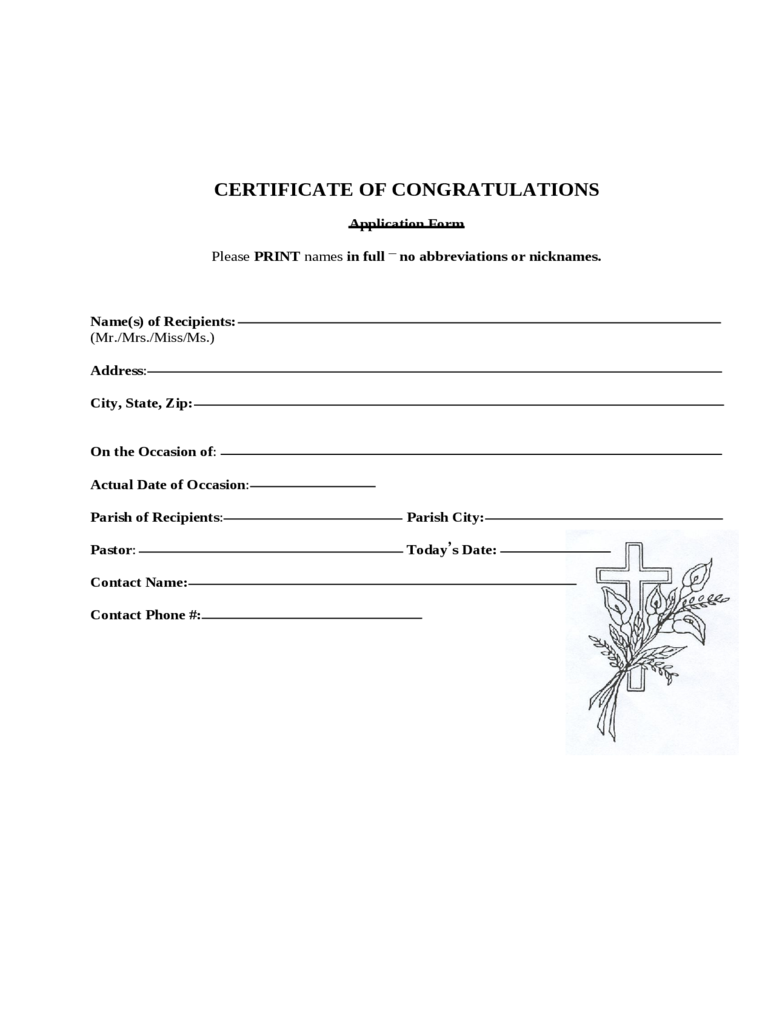 Congratulations certificate 4 free templates in pdf word excel congratulations certificate template yelopaper Gallery