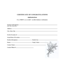Congratulations Certificate Template Free Download