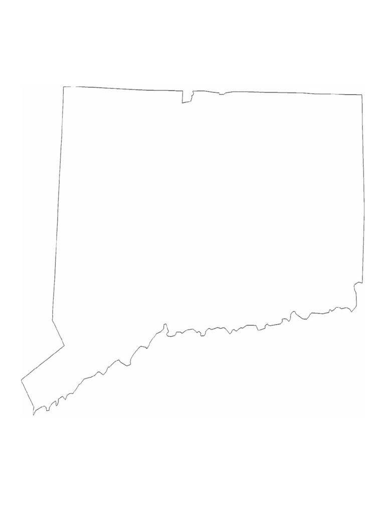 Connecticut State Outline Map