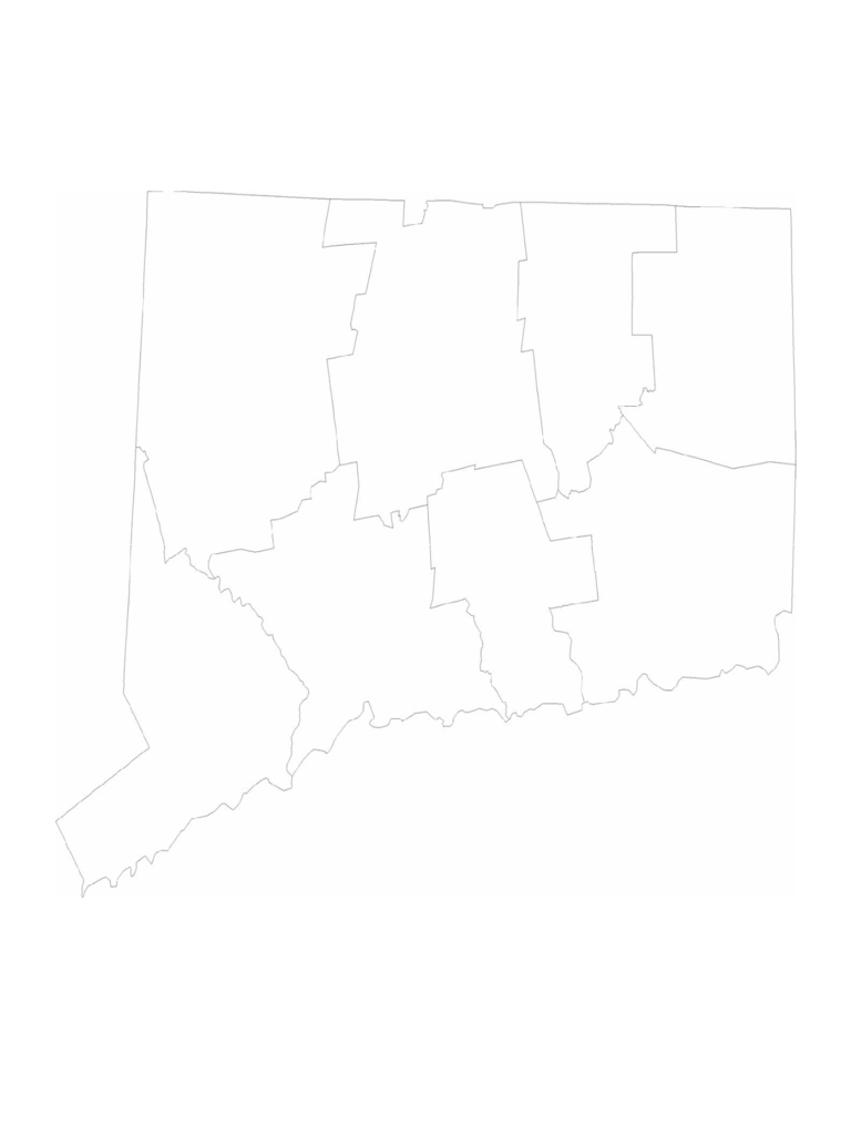 Blank Connecticut County Map