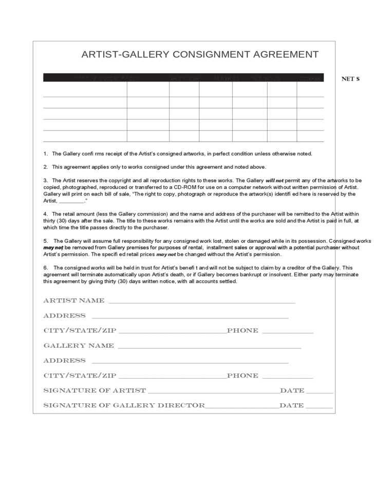Consignment form view larger image consignment form for International trade contract template