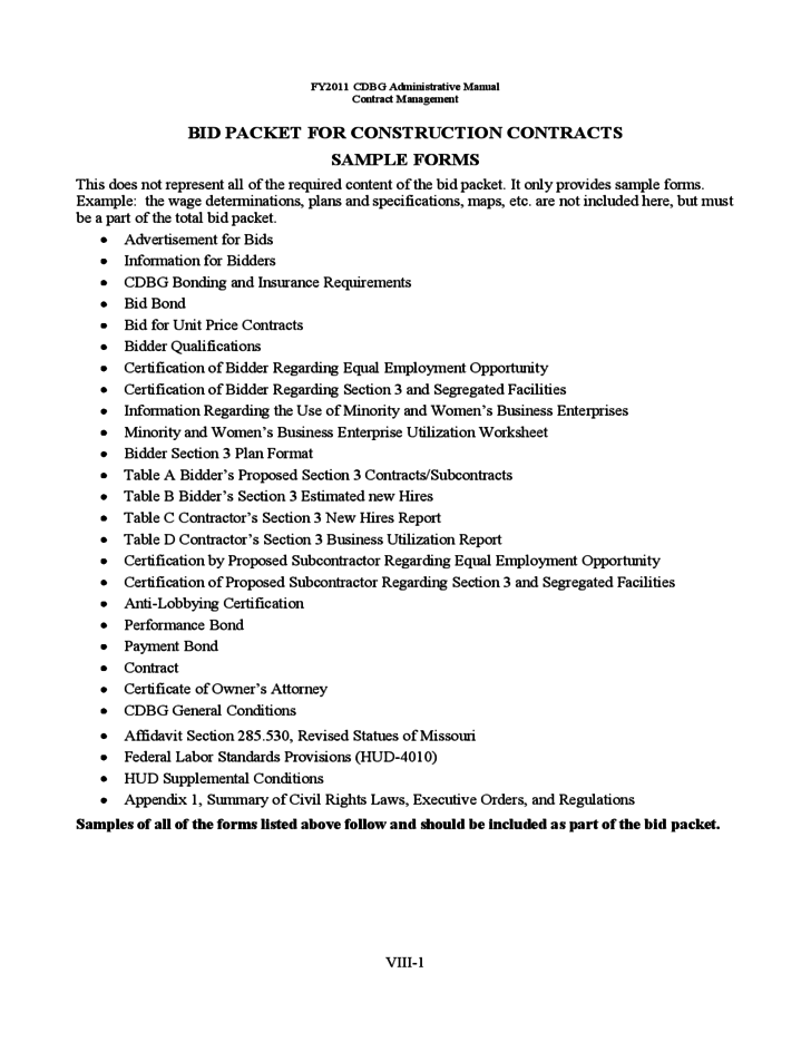Sample Construction Contractor Agreements