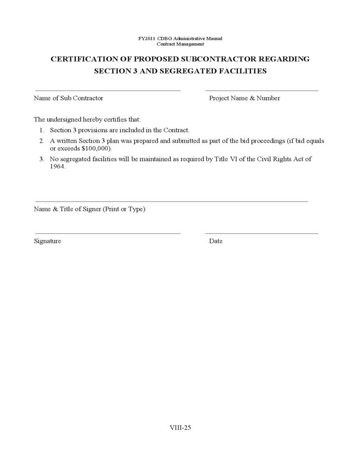 Bid Packet for Construction Contracts Sample Forms