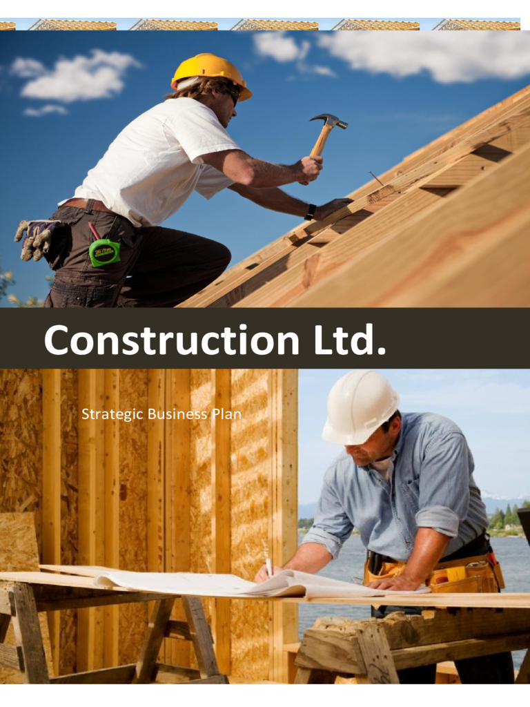 construction business plan template 2 free templates in pdf word