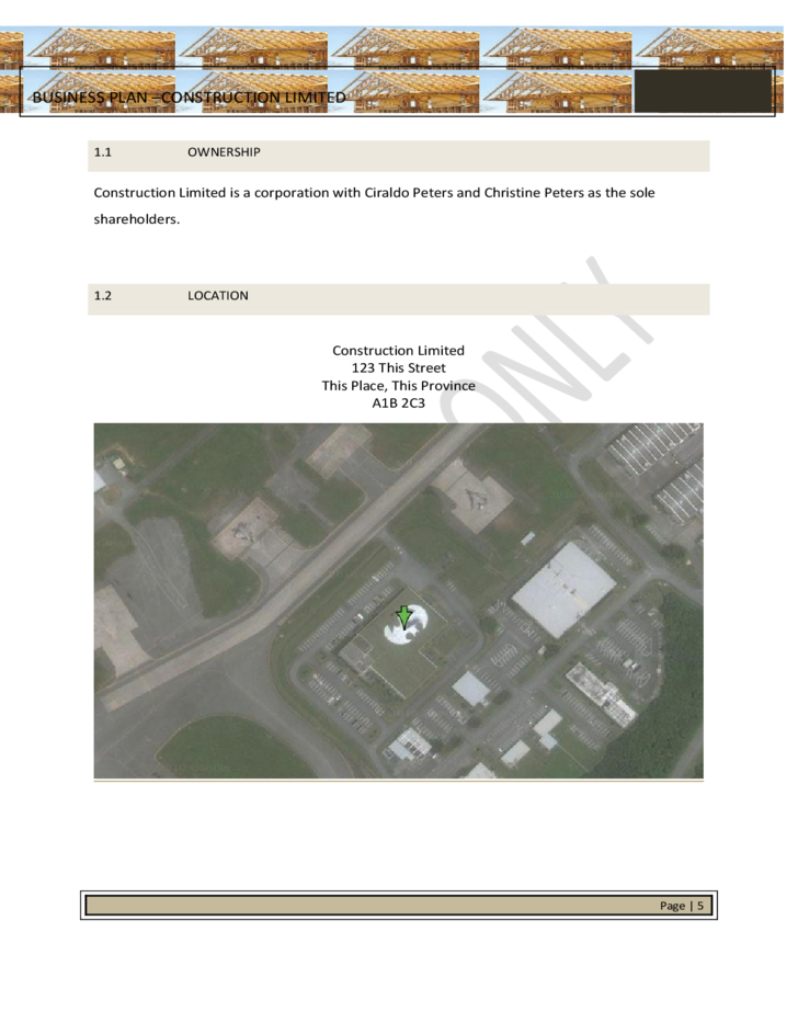 Strategic Business Plan Template for Construction