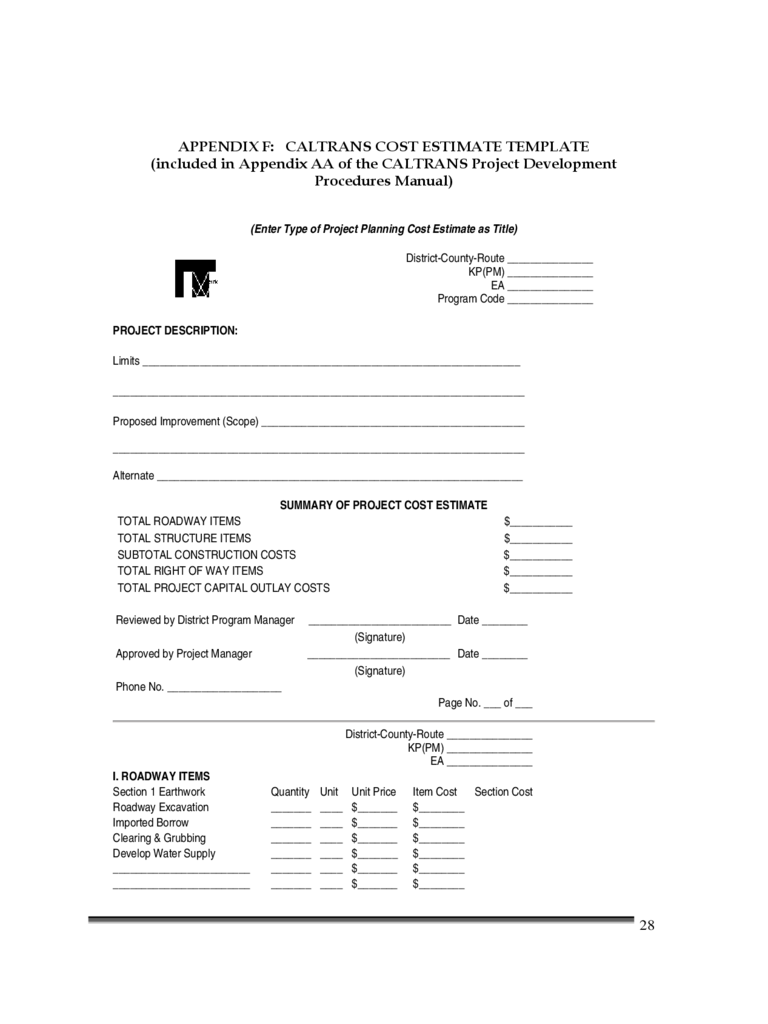 Construction cost estimate template 3 free templates in for Building costs estimator