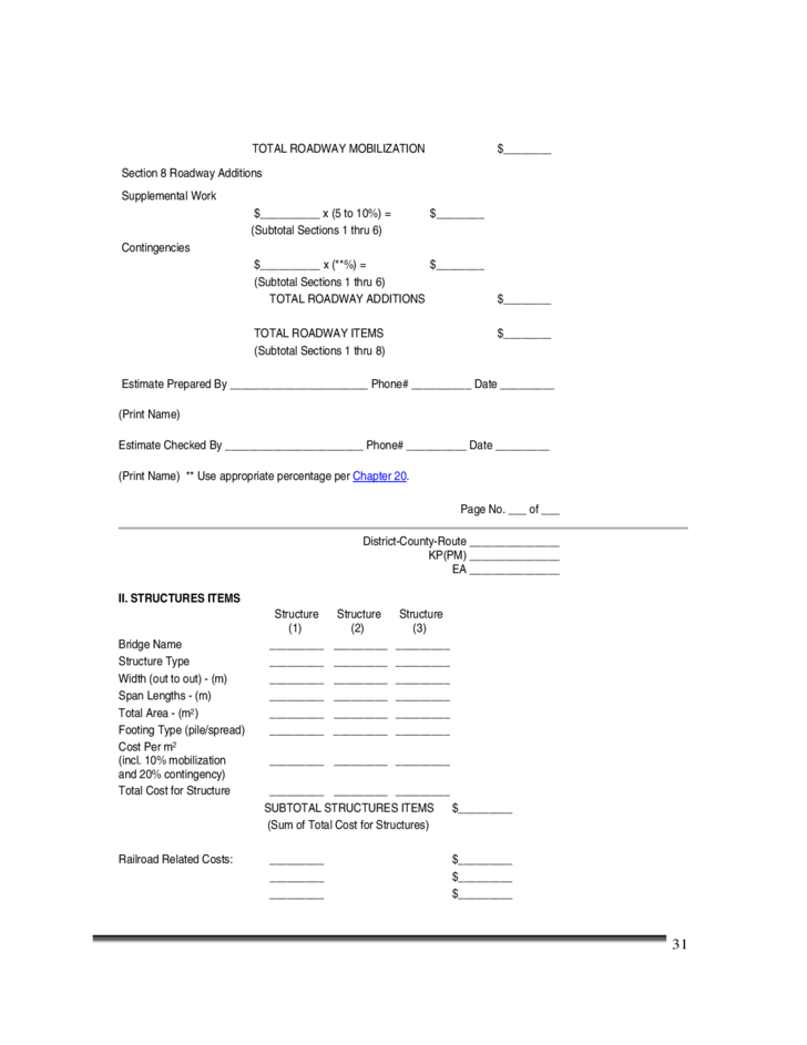 Construction cost estimate template california free download for Build cost estimator