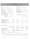 Monthly Progress of Plans & Estimated Construction Costs Form - Kansas Free Download