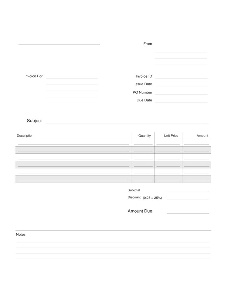 Construction Billing Invoice Template Free Download
