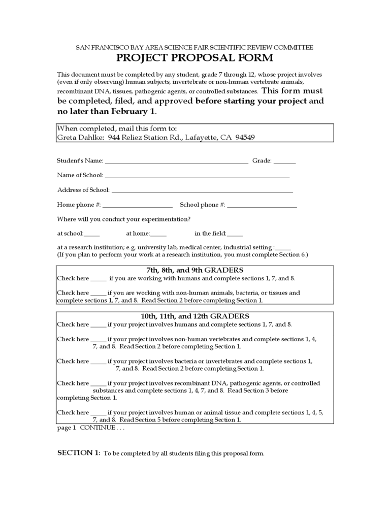 Construction Proposal Form  Construction Proposal Form
