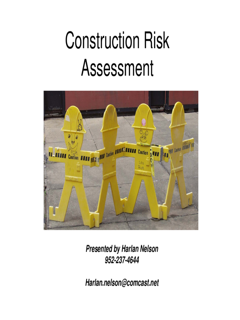 Construction Risk Assessment Template 4 Free Templates
