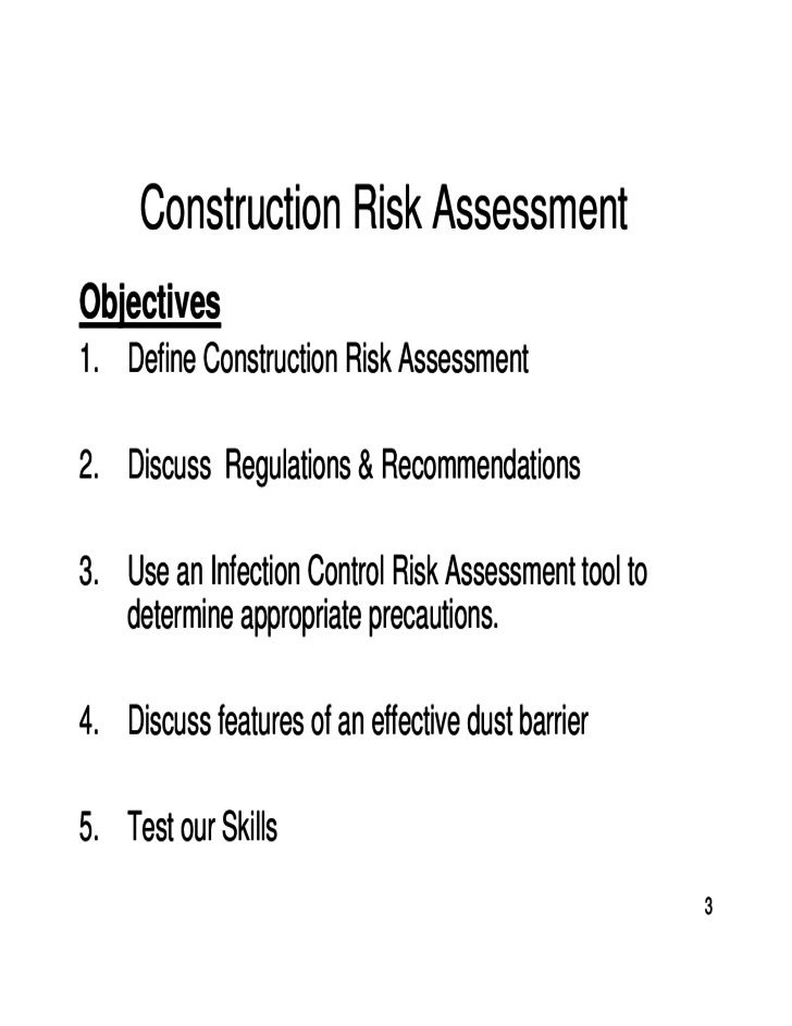 3 Sample Construction Risk Assessment