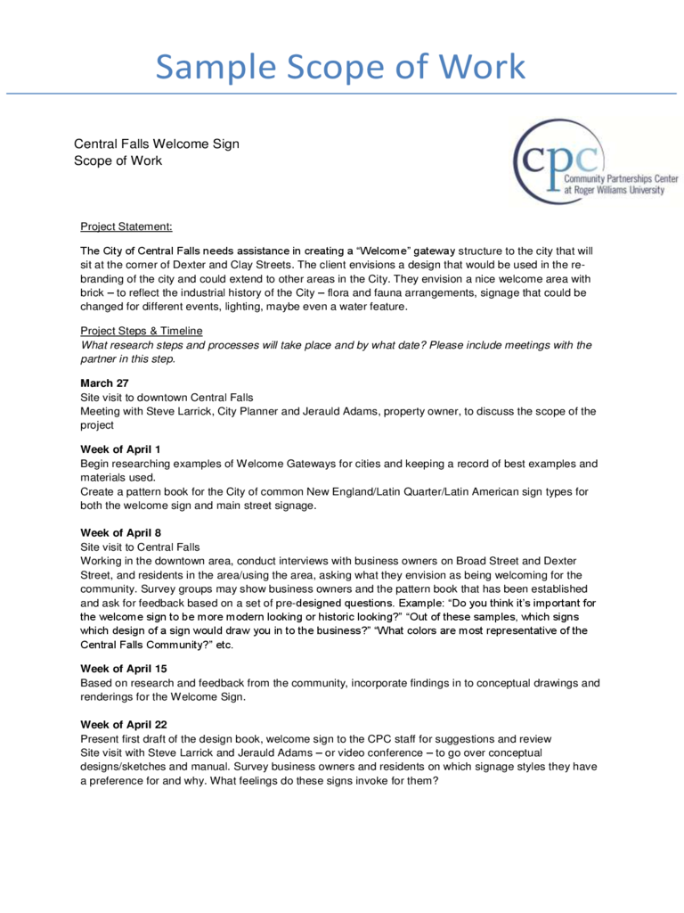 Construction Scope of Work Template - 2 Free Templates in PDF, Word ...