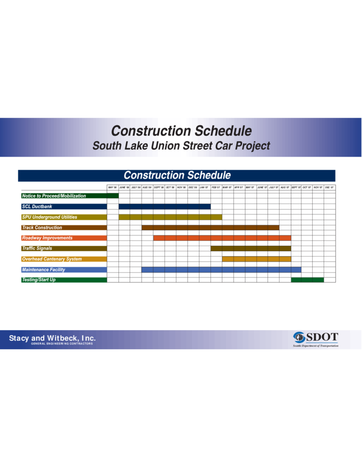 construction timeline board free download