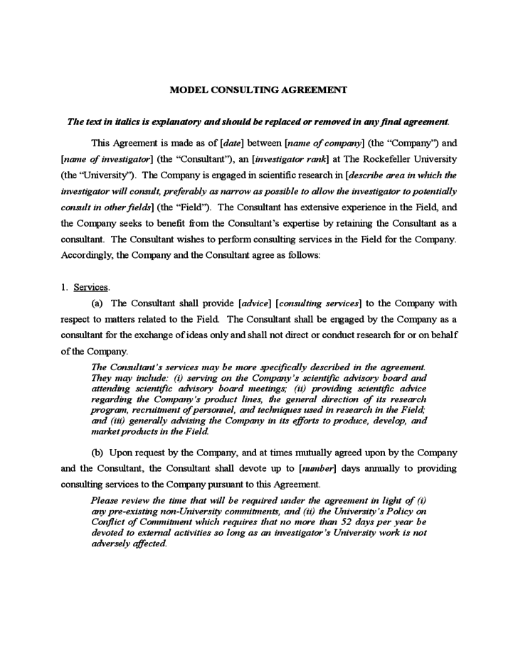 consultant contract agreement