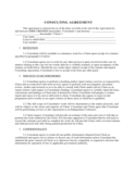 CONSULTING AGREEMENT Free Download
