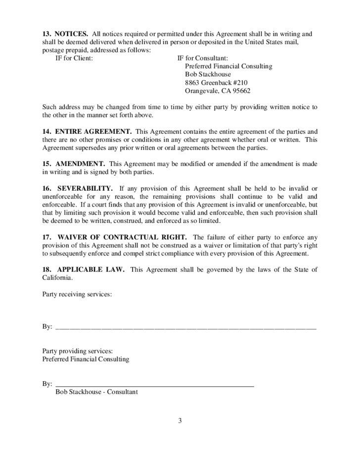 CONSULTING and RETAINER AGREEMENT Free Download – Retainer Agreement Template