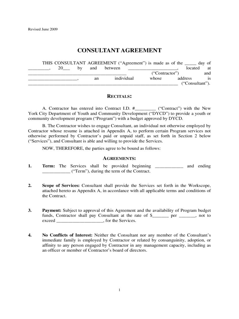 Consultant Agreement Template - 8 Free Templates in PDF, Word ...