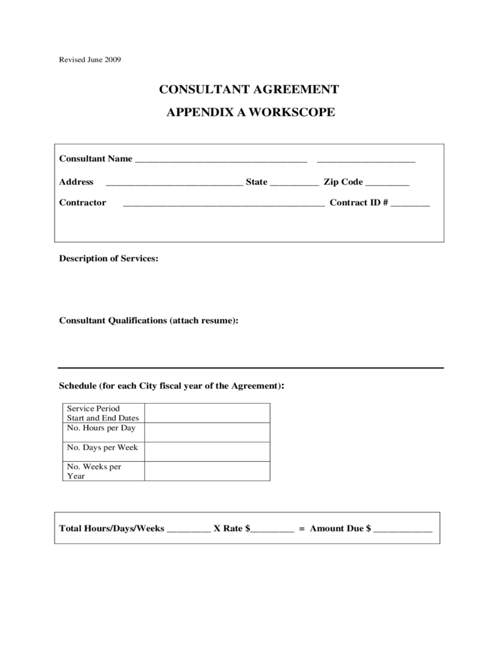 Consultant contract agreement new york city free download for Consultant contract template free download
