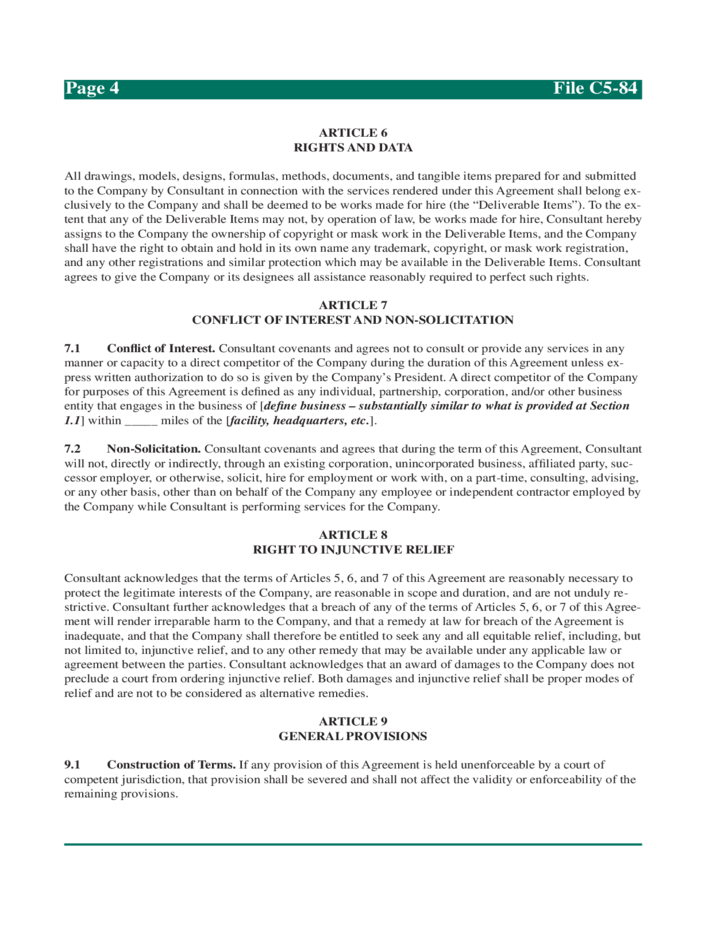 Sample Consulting Agreement Form Iowa State University Free Download