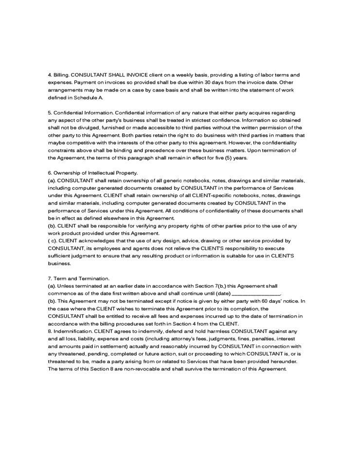 Sample Agreement CONSULTING AGREEMENT