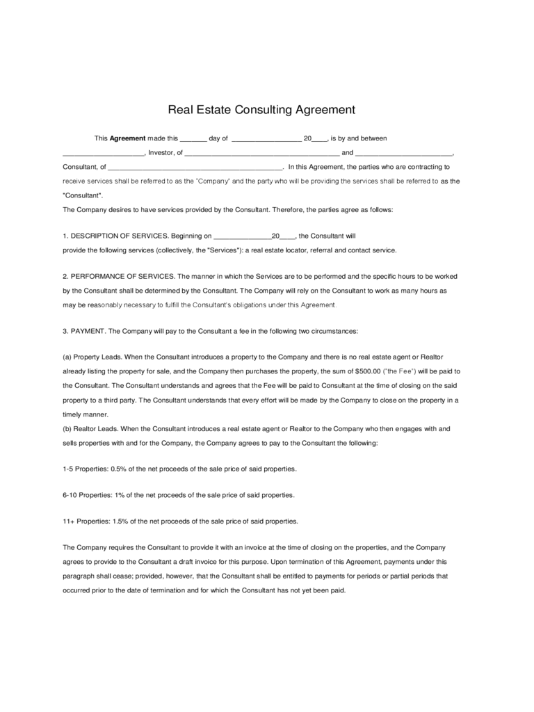 sample consulting agreement – Free Sales Agreement Template