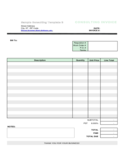 Sample Consulting Invoice Template Free Download