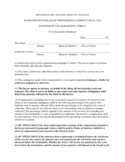 Continent Fee Agreement Form - Massachusetts Free Download