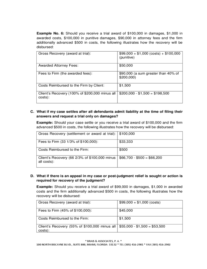 Contingency Fee Agreement Faq Free Download